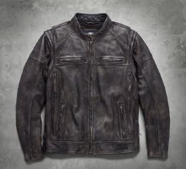 Men's Dauntless Convertible Leather Jacket