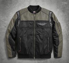 Harley-Davidson® Men's Mainstreet Nylon Bomber Jacket 98583-17VM