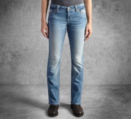 Harley-Davidson® Women's Boot Cut Embellished Skull Low-Rise Jeans 99103-17VW