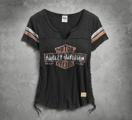 Harley-Davidson® Women's Genuine Side Laced Tee 99104-17VW