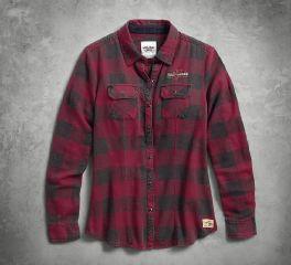 Harley-Davidson® Women's Genuine Laced Yoke Plaid Shirt 99109-17VW
