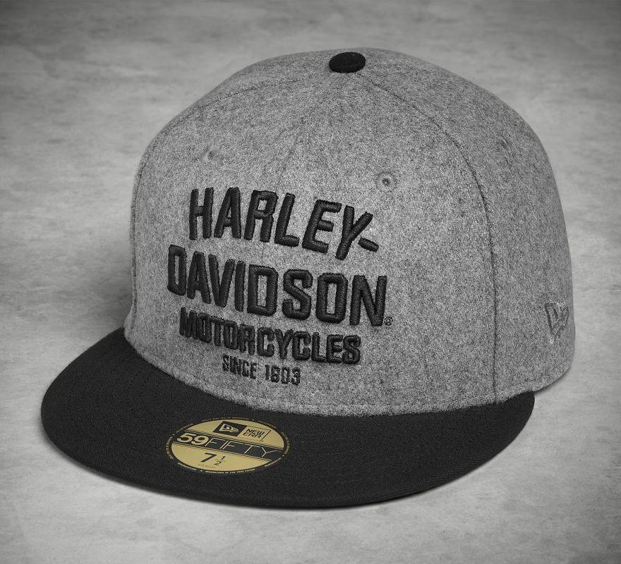 768e3e7d44a6 Harley-Davidson® Men's Wool 59FIFTY® Cap 99499-17VM | Chester Harley ...