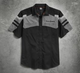 Harley-Davidson® Men's Performance Tonal Colorblock Shirt 96506-17VM