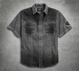 Harley-Davidson® Men's Reverse Cold-Pigment Dyed Shirt 96507-17VM