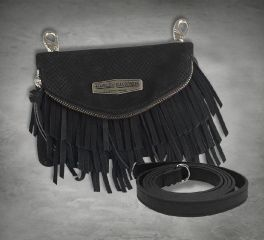 Harley-Davidson® Women's Python Fringe Hip Bag, Leather Accessory Source FS8536L