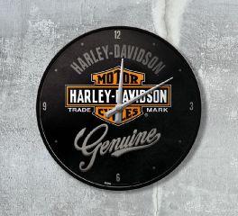 Harley-Davidson® Nostalgic HD Wall Clock Genuine Style, Nostalgic Art 51082