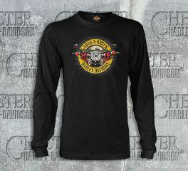 Harley-Davidson® Men's Guns N' Roses Cover Black Long Sleeve Tee Top, Bravado International Group, Inc. 30298548