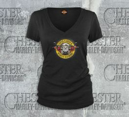 Women's Guns N' Roses Cover V-Neck Tee Top T-Shirt, Bravado International Group, Inc. 30298572