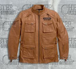 Men's Wheeler Waterproof 3/4 Leather Jacket