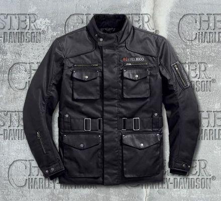 Harley-Davidson® Men's Destination Waterproof 3/4 Textile Riding Jacket 97222-18EM