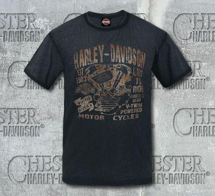 Harley-Davidson® Men's Bleached Name Tee Top T-Shirt, RK Stratman Inc. R002413