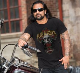 Men's Guns N' Roses Rose Cross Short Sleeve Tee Top T-Shirt, Bravado International Group, Inc. 30298564