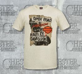 Harley-Davidson® Men's Grunge Poster Tee Top T-Shirt, RK Stratman Inc. R002206