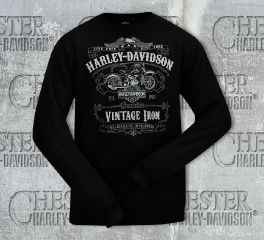 Harley-Davidson® Men's Label Lines Tee Top T-Shirt, RK Stratman Inc. R002322