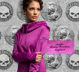 Women's Melancholy Moonlight Cowl Neck Pullover Hoodie, Fanatics Licensed Sports Group, LLC HABF-HC3N
