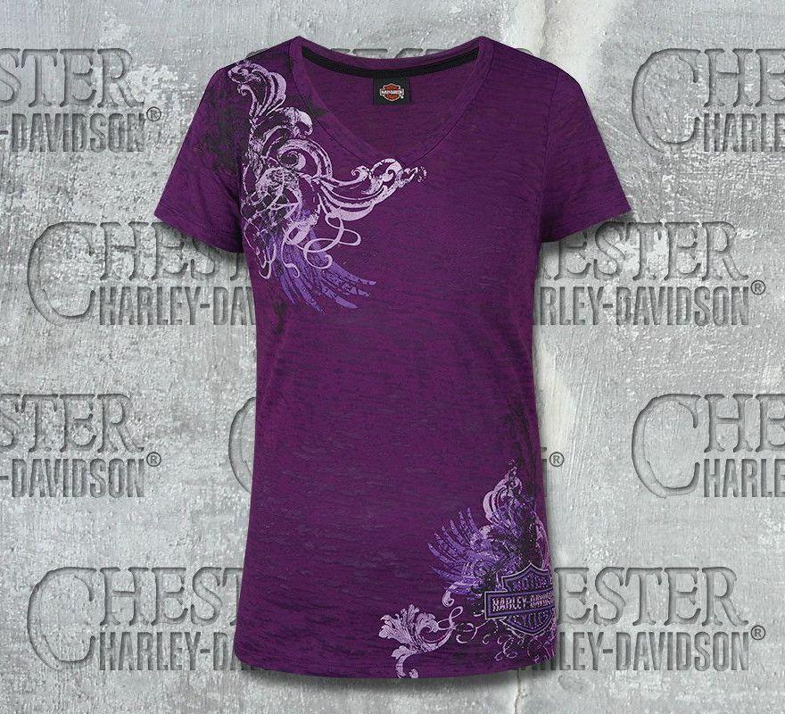 be2f9fdb3a3b Harley-Davidson® Women's Deep Plum Calypso Short Sleeve T-Shirt, RK Stratman