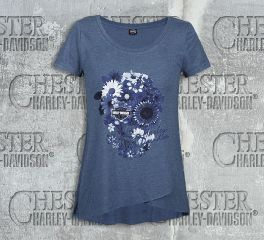 Women's Flower Mask Tee Top T-Shirt