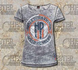 Women's H-D Chevron Tee Top T-shirt, RK Stratman Inc. R002162