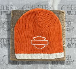 Blank Bar and Shield Orange Knitted Beanie Cap Hat, Global Products, Inc. KNCUS021138