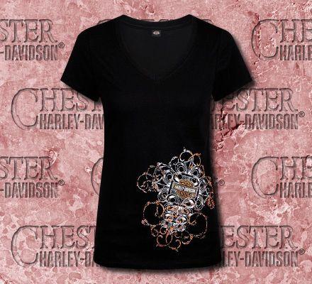 Harley-Davidson® Women's After Dark Tee Top T-shirt, RK Stratman Inc. R002160