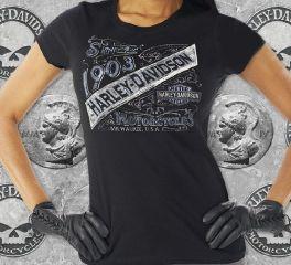 Harley-Davidson® 1903 Women's Tee T-shirt Top, RK Stratman Inc. R000913