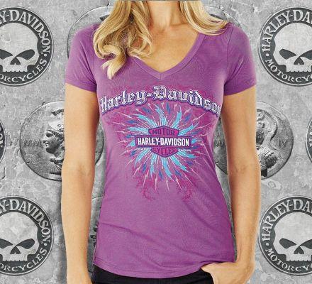 Harley-Davidson® Women's Vortex Trademark B&S Tee Top T-shirt, RK Stratman Inc. R001332
