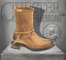 Harley-Davidson® Women's Sicilia Tan Brown Leather Boots, Wolverine D83973