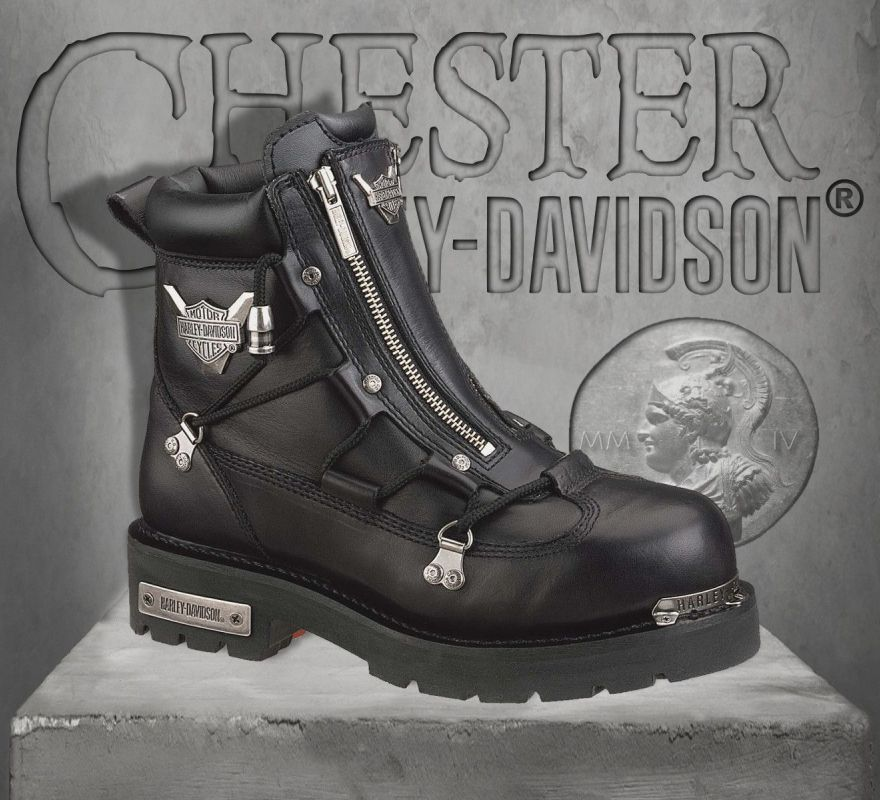 d4017e7b765a41 Harley-Davidson® Men s Brake Light Leather Boots D91680