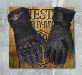 Harley-Davidson® Men's No.1 Genuine Leather Gloves 98361-17EM