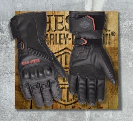 Harley-Davidson® Men's Messenger Leather Gauntlet Gloves 98360-17EM