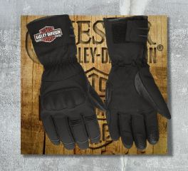 Harley-Davidson® Men's Legend Soft Shell Gauntlet Gloves 98366-17EM