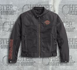 Harley-Davidson® Men's Bar & Shield® Logo Mesh Riding Jacket 98162-17EM