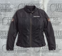 Harley-Davidson® Women's Bar & Shield® Logo Mesh Riding Jacket 98169-17EW