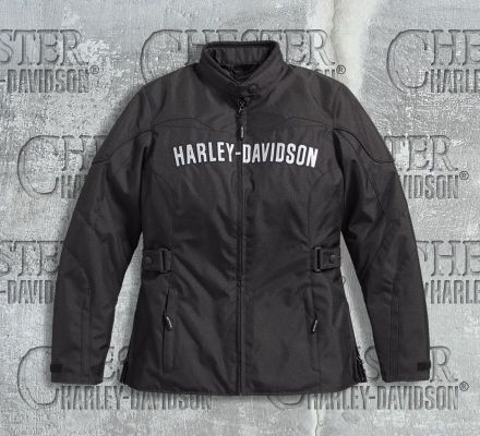 harley davidson women 39 s classic textile riding jacket. Black Bedroom Furniture Sets. Home Design Ideas