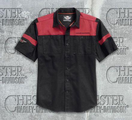 Harley-Davidson® Men's Performance Colorblocked Shirt 96504-17VM