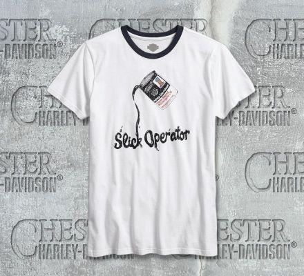 Harley-Davidson® Men's Slick Operator Ringer Tee 96635-17VM