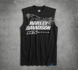 Harley-Davidson® Men's 115th Anniversary Sleeveless Slim Fit Tee 99000-18VM