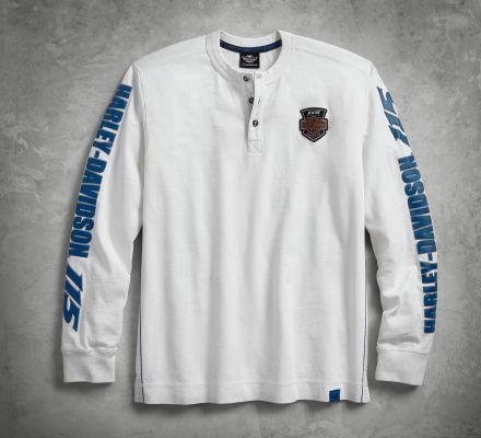 Henley Shirt Men Long Sleeve
