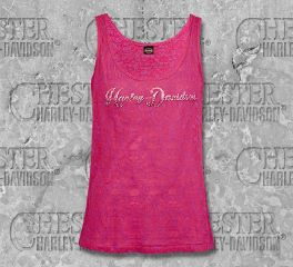 Women's Berry Name Pink Sleeveless Tank with Rhinestones