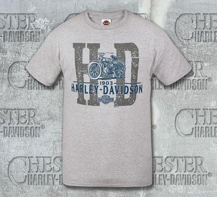 Harley-Davidson® Men's Old Name H-D Motorcycle Short Sleeve Tee With Pocket, RK Stratman Inc. R002606C