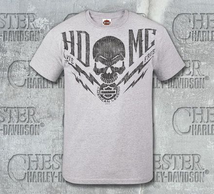 Harley-Davidson® Men's Skull Free HDMC Short Sleeve T-Shirt, RK Stratman Inc. R002396
