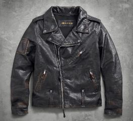 Harley-Davidson® Men's Master Distressed Slim Fit Leather Biker Jacket 98003-18VM