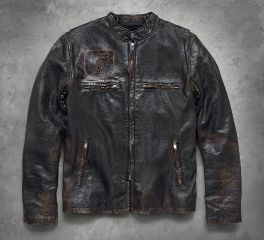 Harley-Davidson® Speed Distressed Slim Fit Leather Jacket 98004-18VM