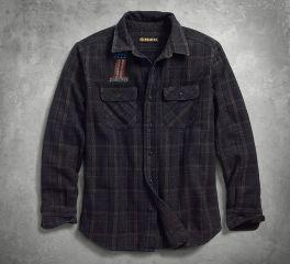 Harley-Davidson® Men's Over-Dyed Plaid Slim Fit Shirt 99011-18VM