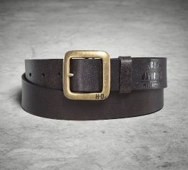 Men's Brass Finish Buckle Belt 97692-18VM