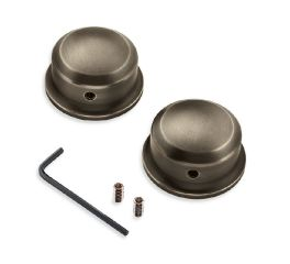Harley-Davidson® Brass Swingarm Pivot Bolt Covers 61400346