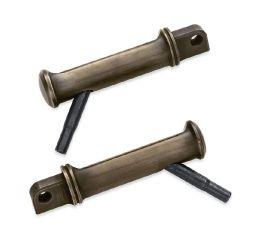 Brass Footpegs with Styled Wear Peg