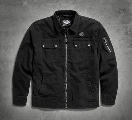 Harley-Davidson® Men's Stretch Washed Canvas Shirt Jacket 96927-18VM