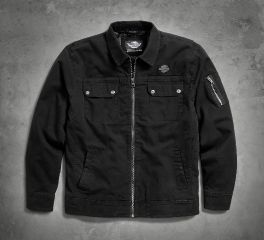 Men's Stretch Washed Canvas Shirt Jacket 96927-18VM