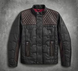 Harley-Davidson® Men's Quilted Leather Accent Jacket 97441-18VM